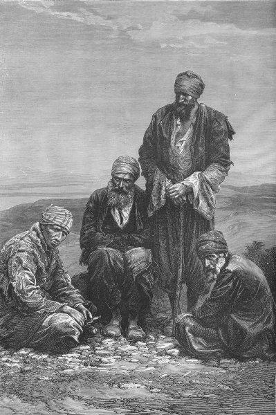 IRAQ. Mesopotamia. Jews of 1880 old antique vintage print picture