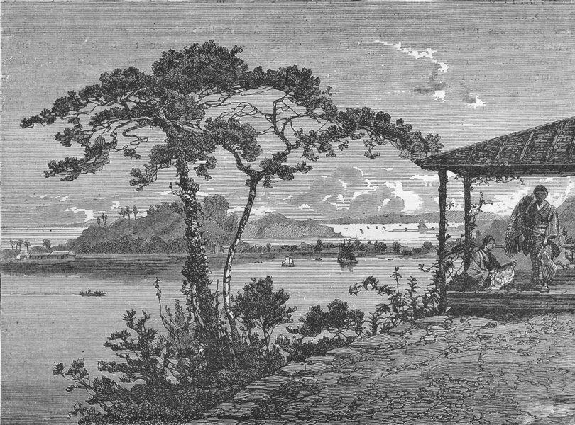 Associate Product JAPAN. Webster & Sivosima Islands, from Kanasawa 1880 old antique print