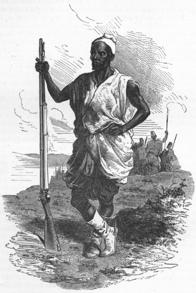 Associate Product MALI. Racine Tall, El Hadj's chief, Koundian 1880 old antique print picture