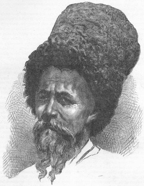 Associate Product UKRAINE. The Caucasus. Cossack 1880 old antique vintage print picture