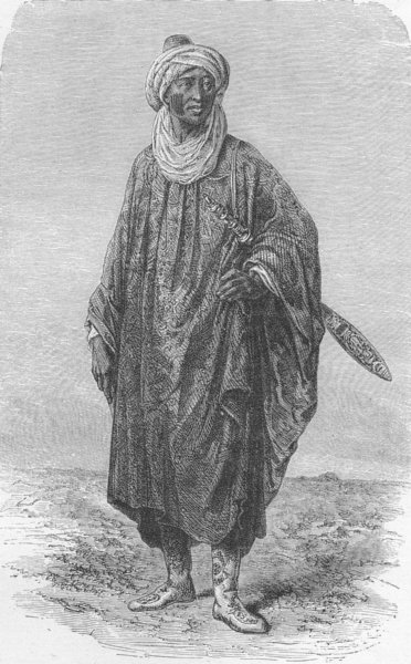 Associate Product MALI. Dandangoura, Chief of Farabougou 1880 old antique vintage print picture