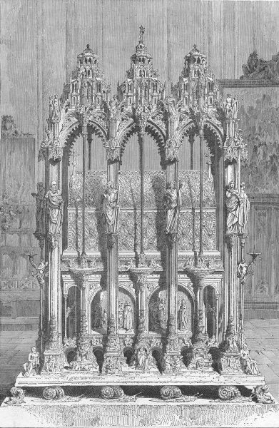 Associate Product GERMANY. Tomb of St Sebald, Nuremberg 1880 old antique vintage print picture