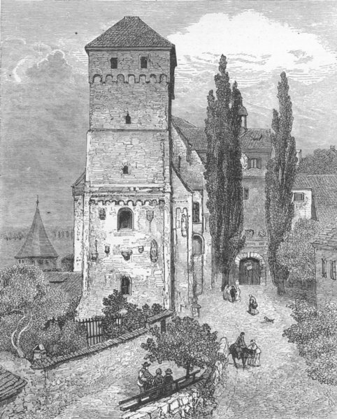 Associate Product GERMANY. Entry of Imperial Castle, Nuremberg 1880 old antique print picture