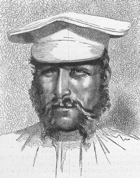 Associate Product EURASIA. Caucasus. Soldier of 1880 antique vintage print picture