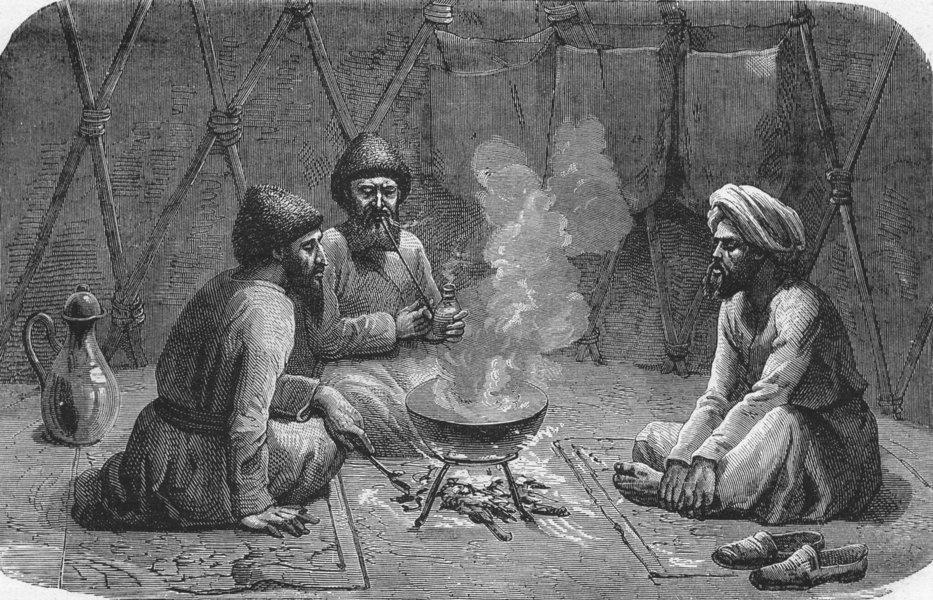 Associate Product TURKMENISTAN. West Turkistan. Turkmen Tent 1880 old antique print picture