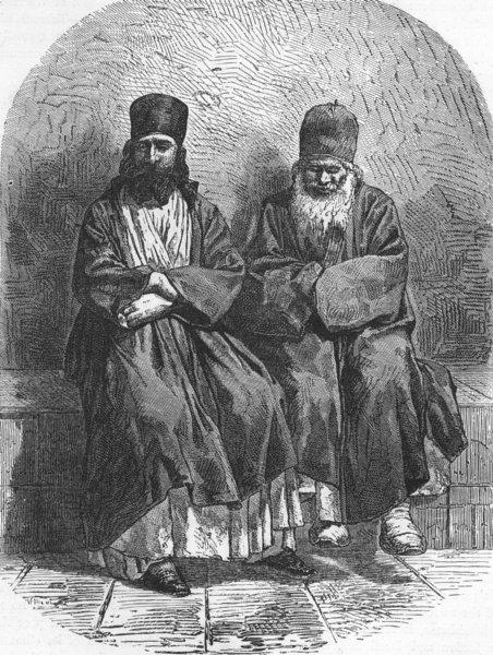Associate Product EURASIA. Caucasus I. Armenian Monks, Etchmiadzin 1880 old antique print