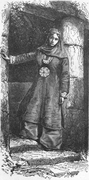 Associate Product UZBEKISTAN. West Turkistan. Woman of Bukhara 1880 old antique print picture