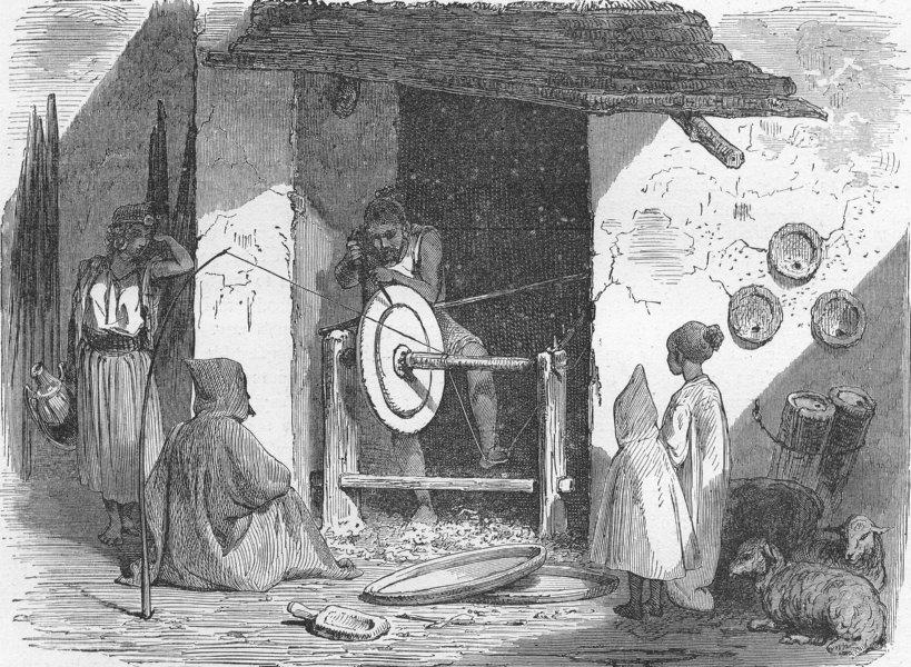 Associate Product ALGERIA. Kabyle, Arab, moor & Jew. turner, his wheel 1880 old antique print