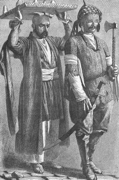 Associate Product CAUCASUS. Caucasian Prince in Chain Armour 1880 old antique print picture
