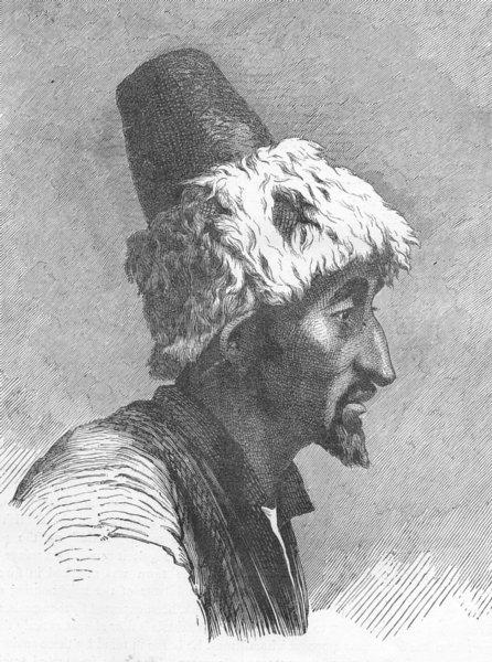 Associate Product EURASIA. Caucasus. Tartar of North slopes 1880 old antique print picture