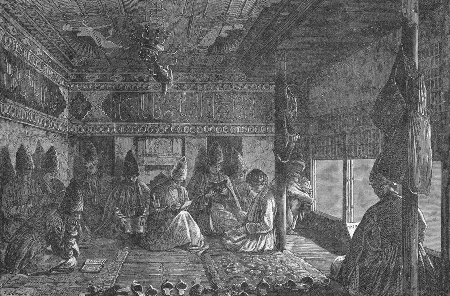 Associate Product EURASIA. The Caucasus. A Tartar school 1880 old antique vintage print picture