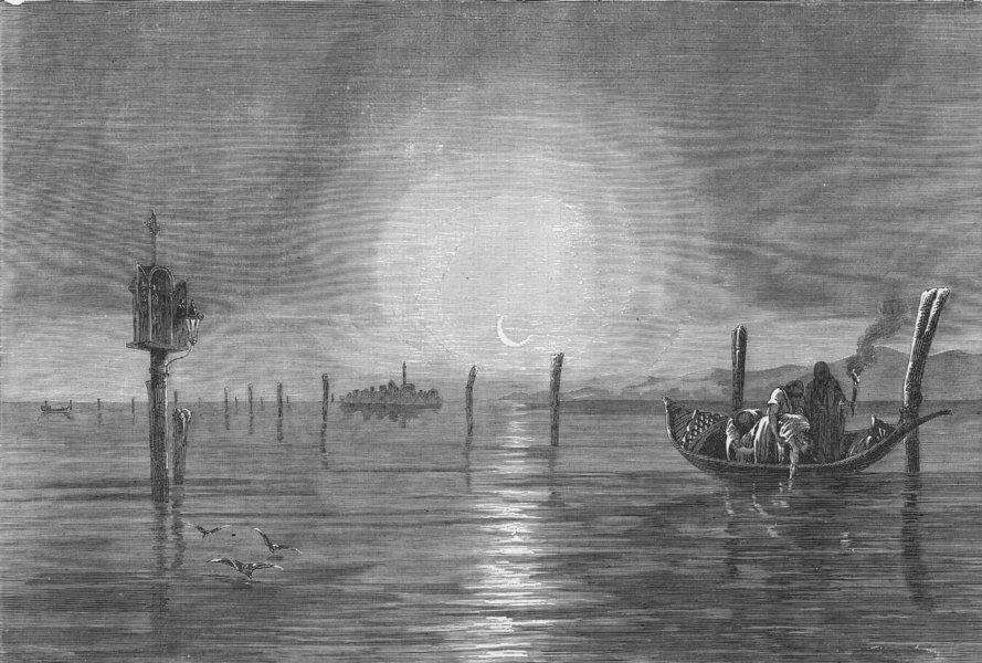 Associate Product VENICE. River Basin of Po & Lagoons Adriatic. lagoon 1880 old antique print