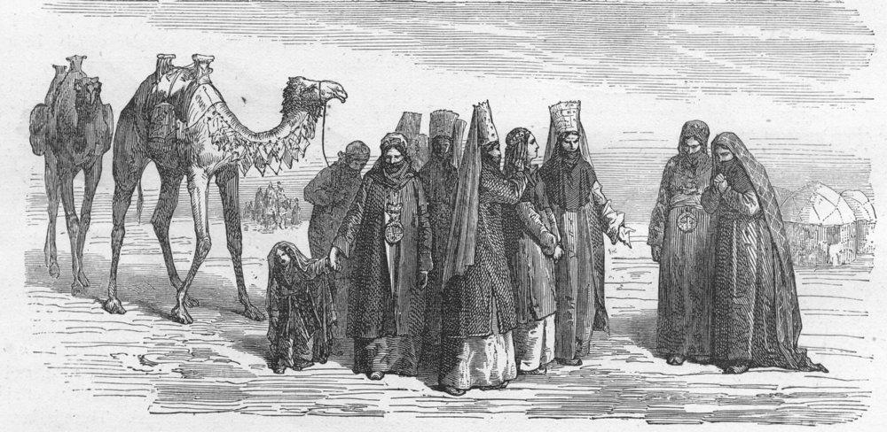 ROMANCE. West Turkestan. Bokharian bride 1880 old antique print picture