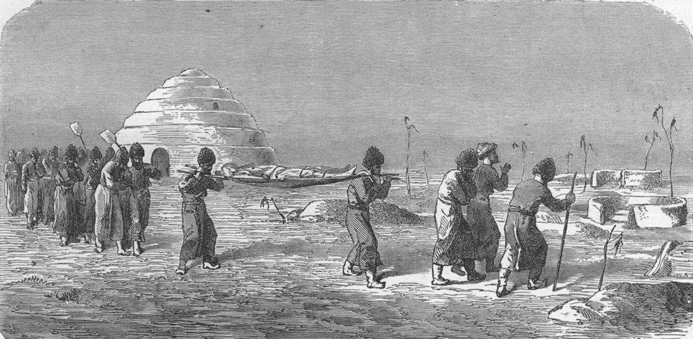 Associate Product SHIPS. West Turkestan. Turkoman burial 1880 old antique vintage print picture