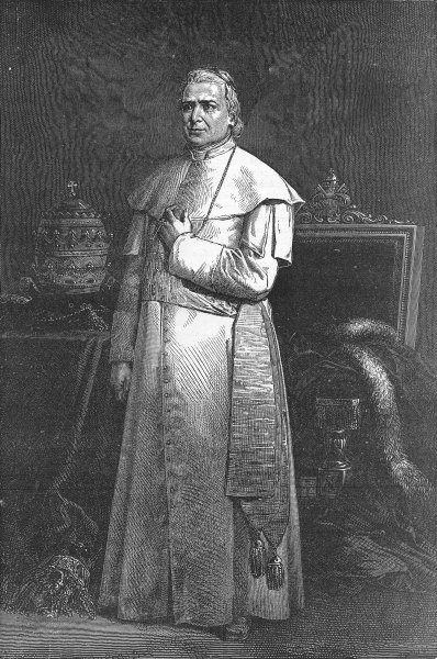 Associate Product ROME. Pius IX(From a Photograph) 1880 old antique vintage print picture