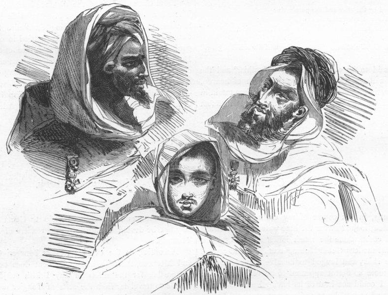Associate Product PORTRAITS. Moorish types 1880 old antique vintage print picture