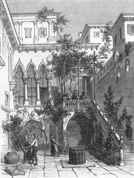 Associate Product VENICE. Palace Talviali 1880 old antique vintage print picture