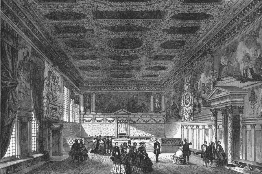 Associate Product VENICE. Ducal Palace  1880 old antique vintage print picture