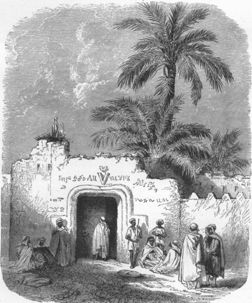 Associate Product MOROCCO. Baba achmed gateway, Onergla 1880 old antique vintage print picture