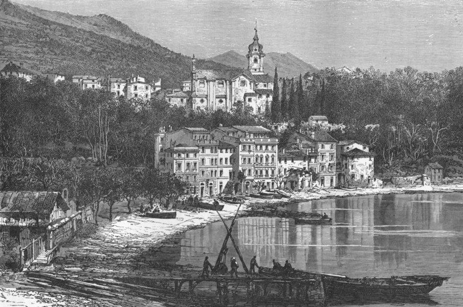 Associate Product ITALY. Gulf of La Spezia. Fezzano  1880 old antique vintage print picture