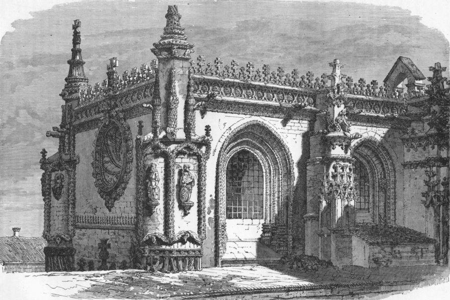 Associate Product ITALY. Gulf of La Spezia. Casa do Capitulo 1880 old antique print picture