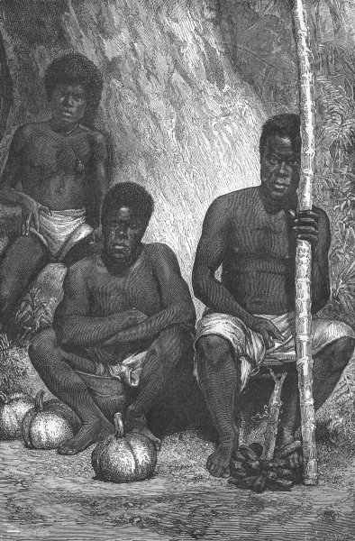 Associate Product NEW CALEDONIA. Caledonian Fruit-sellers 1880 old antique vintage print picture
