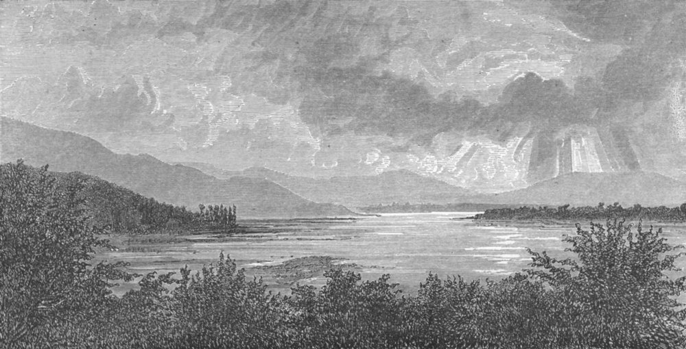 Associate Product INDIA. Himalayas. View near Nainital 1880 old antique vintage print picture