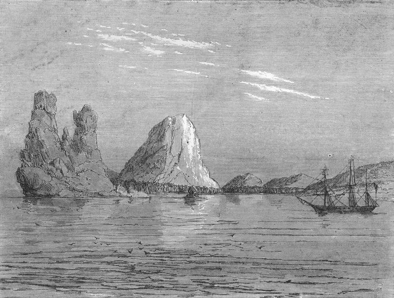 Associate Product NEW CALEDONIA. The Hienghen rocks 1880 old antique vintage print picture