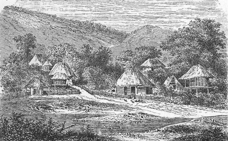 Associate Product HUNGARY. Village, Szil Valley 1880 old antique vintage print picture