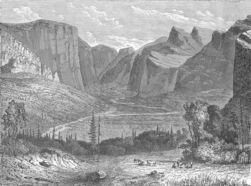 Associate Product NEVADA. Under snow. Sierra 1880 old antique vintage print picture