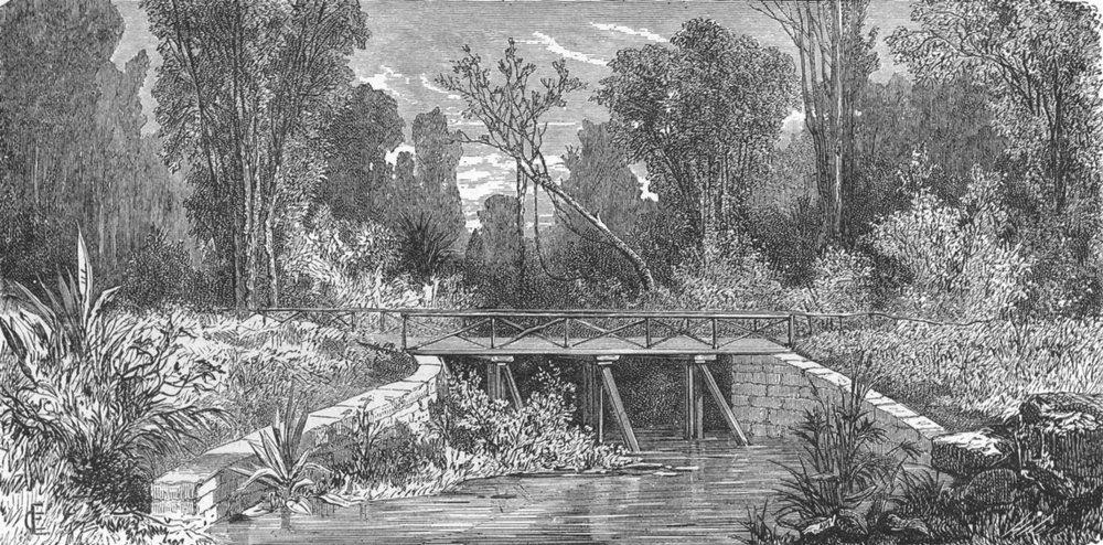 Associate Product NEW CALEDONIA. Pont des Francais  1880 old antique vintage print picture
