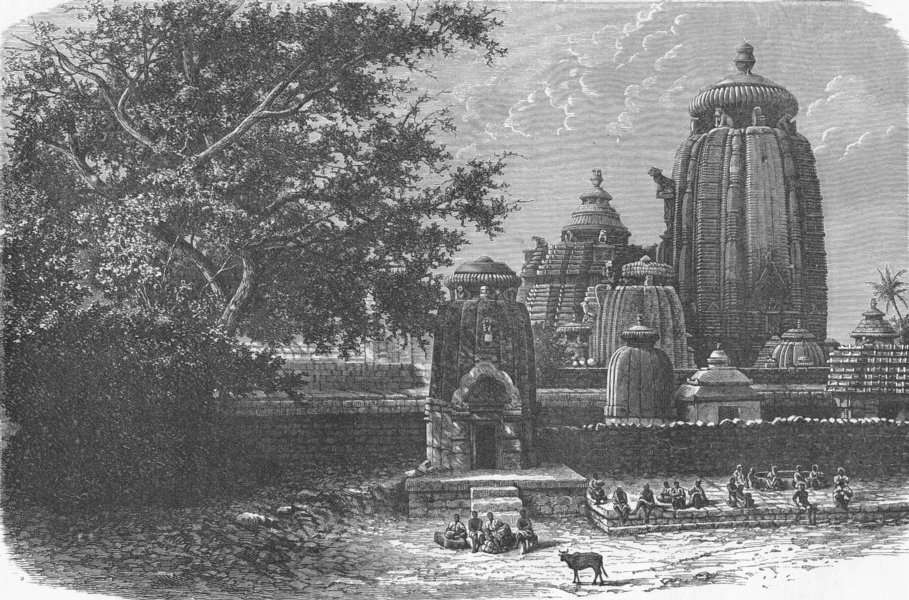 Associate Product INDIA. Black Pagoda Temple of Juggernath 1880 old antique print picture
