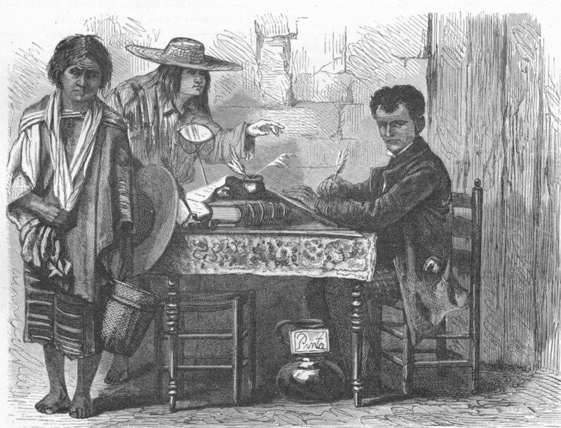 Associate Product MEXICO. Evangelista 1880 old antique vintage print picture