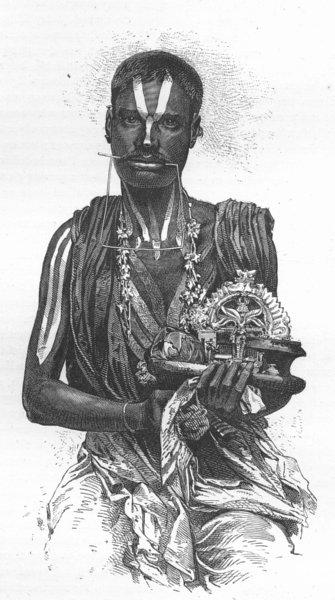 Associate Product INDIA. Elephant shooting, Dehra Dhoon. Hindu Fakir 1880 old antique print