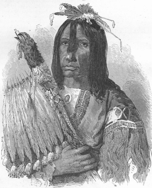 Associate Product CANADA. Hashquaht Chief, in War-dress 1880 old antique vintage print picture
