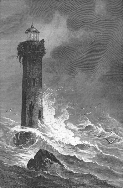 Associate Product FLORIDA. Hazard Lighthouse  1880 old antique vintage print picture
