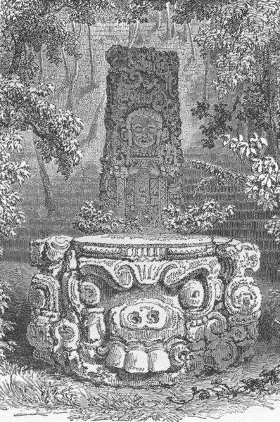 Associate Product MEXICO. Cofre de Perote. Aztec Idol 1880 old antique vintage print picture