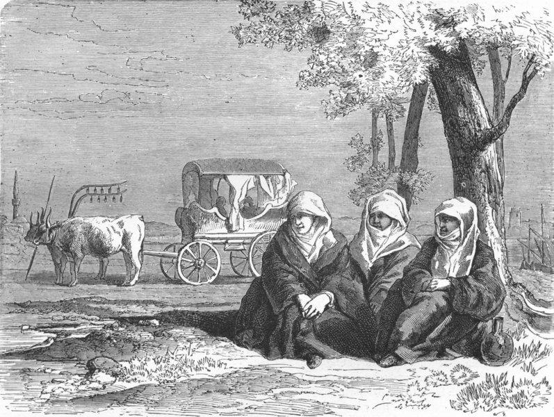 Associate Product GREECE. Travellers reposing, banks of lake Dojran 1880 old antique print