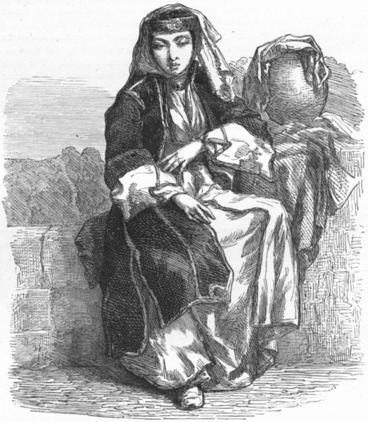 Associate Product GREECE. Jewess of Thessaloniki 1880 old antique vintage print picture