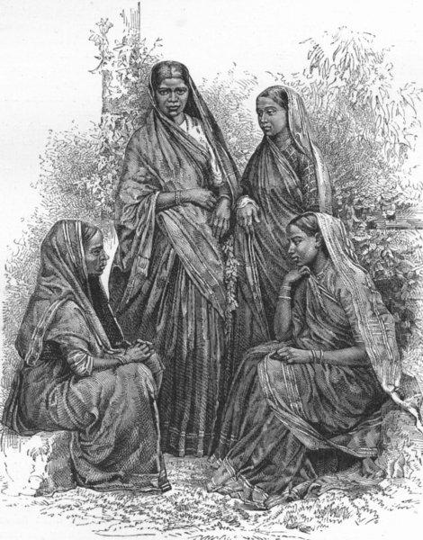 Associate Product INDIA. Mumbai & Malabar Coast. Christian Converts  1880 old antique print
