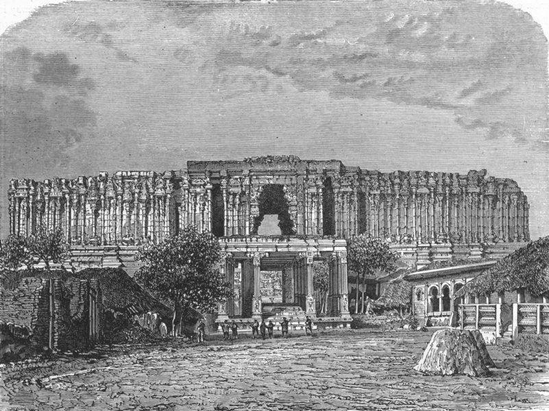 Associate Product INDIA. Thiruchchirapalli. Siringam Temple, Royal Gate 1880 old antique print