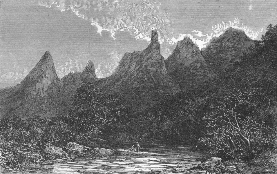 Associate Product BRAZIL. Rio de Janeiro & Organ Mountains- 1880 old antique print picture