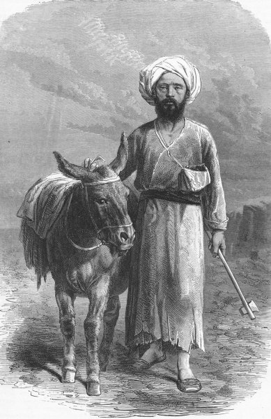 Associate Product IRAN. Vambery in his travelling dress 1880 old antique vintage print picture