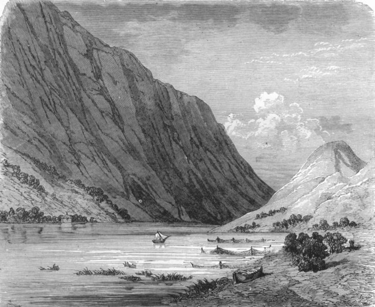Associate Product NORWAY. Trondheim Fiord 1880 old antique vintage print picture
