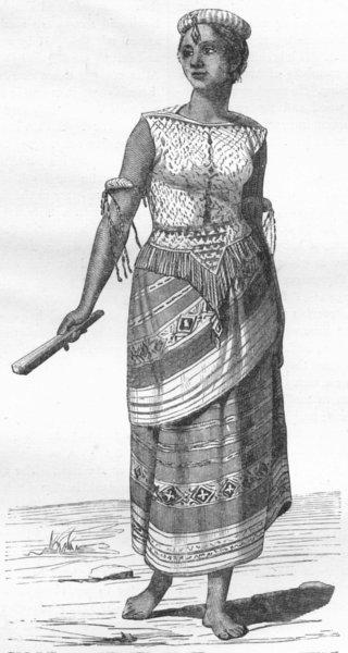 Associate Product PORTRAITS. Borneo. Woman of Isle Koti  1880 old antique vintage print picture