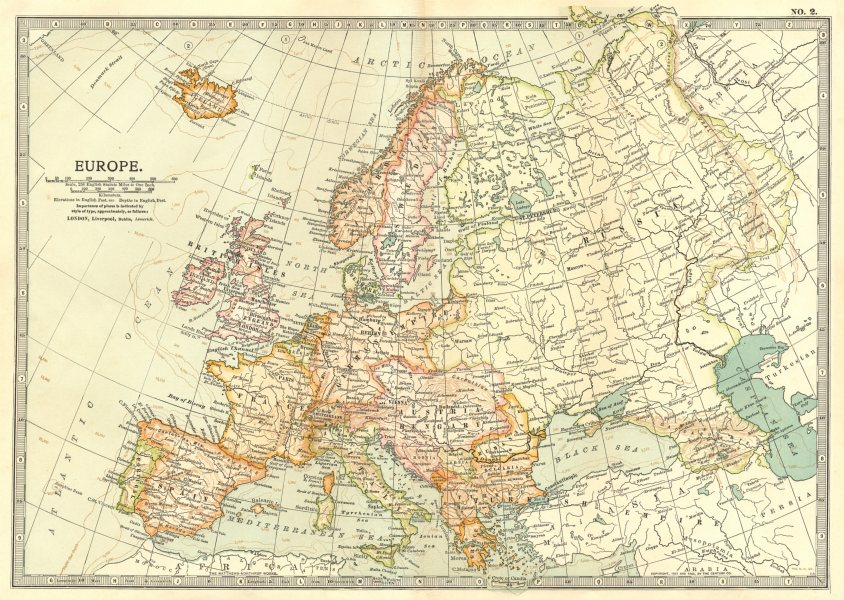 Associate Product EUROPE. Europe 1903 old antique vintage map plan chart