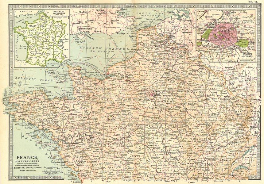 Associate Product FRANCE NORTH. Provinces <1789. Paris. Shows key battlefields & dates 1903 map