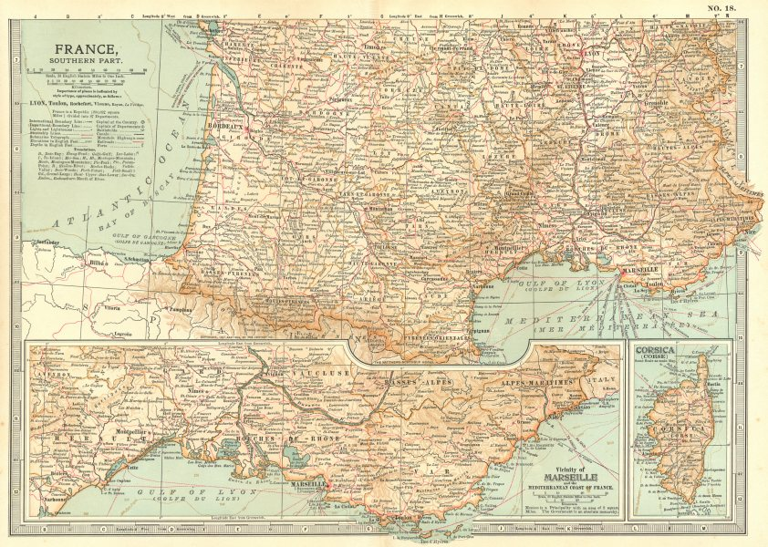 Associate Product FRANCE SOUTH.Shows key battles/dates Napoleonic/Revolutionary wars 1903 map