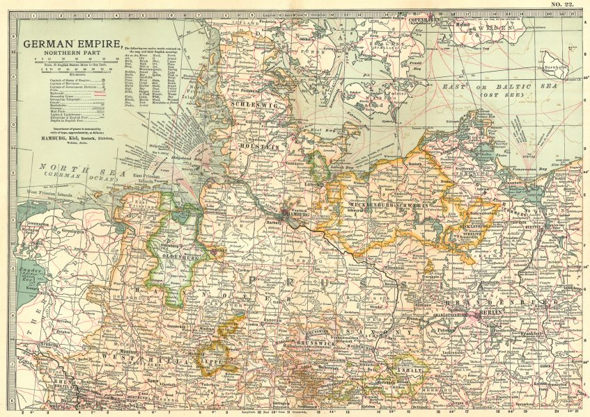 Associate Product GERMANY NORTH.Prussia Hannover Brandenburg.Shows battlefields/dates 1903 map