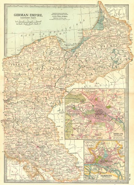Associate Product PRUSSIA POLAND POSEN SILESIA. Berlin Hamburg.Shows battlefields/dates 1903 map